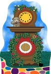 MISTER ROGERS CAT'S MEOW - CLOCK