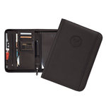PADFOLIO - ZIPPER BLACK W/ EMBOSSED SEAL