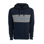 SWEATSHIRT - HD BLOCKED FLEECE IN NAVY/GRAY