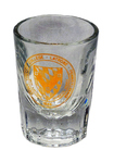 SHOT GLASS - CLEAR W/ GOLD SEAL