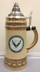 GERMAN STEIN - GREEN/GOLD W/ PEWTER LID 2014
