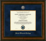 DIPLOMA FRAME - PRESIDENTIAL W/ BLUE SUEDE & SEAL
