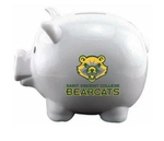 PIGGY BANK - WHITE BEARCAT LOGO