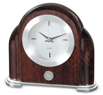 SILVER - ART DECO DESK CLOCK