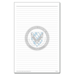 NOTE PAD - MEDIUM W/ SEAL 8.5x5.5""