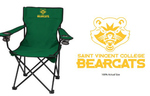 FOLDING STADIUM CHAIR/WCARRY CASE - GREEN W/ LOGO