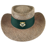HAT - STRAW W/SUN SHIELD PAWPRINT ON BAND