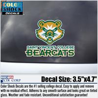 DECAL - NEW BEARCAT LOGO W/ SAINT VINCENT COLLEGE BEARCATS