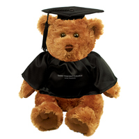 TEDDY BEAR - GRADUATE BLACK CAP/GOWN