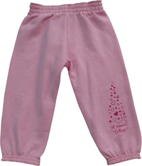 SWEATPANTS - YOUTH PINK W/ HEARTS