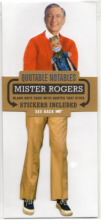 FRED ROGERS QUOTABLE NOTABLES BLANK NOTE CARD W/STICKERS