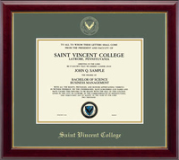 DIPLOMA FRAME - GALLERY EMBOSSED GRN/GOLD MAT 19 x 16 1/2