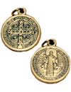 """ST. BENEDICT MEDAL - 1"""" OXIDIZED METAL"""