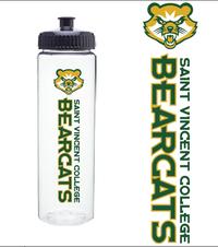 WATER BOTTLE - CLEAR W/ BEARCAT LOGO