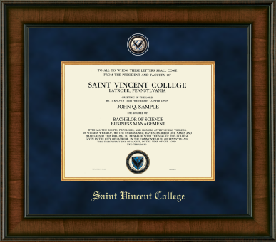 Diploma Frame   Saint Vincent College Bookstore